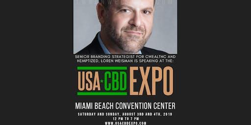 Senior Branding Strategist Loren Weisman speaks at The USA CBD EXPO