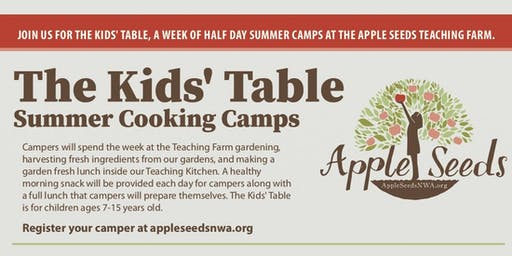 The Kids' Table: Apple Seeds Summer Cooking Camp