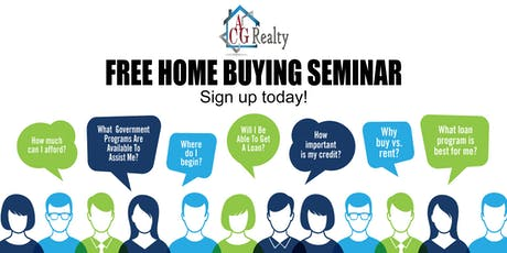 """End of Summer Homeownership"" Free Home Buyers Seminar tickets"