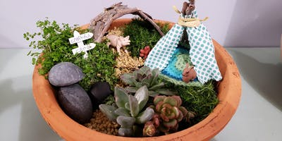 Afternoon Summer Craft Camp: Fairy Garden and Painted Peg Board