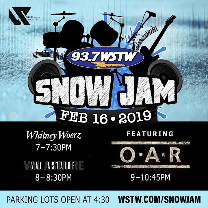 WSTW Snow Jam Featuring O•A•R image