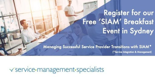 Successful Service Provider Transitions with SIAM