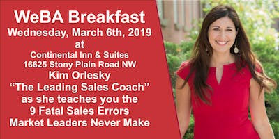 WeBA Breakfast with Kim Orlesky