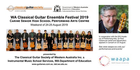 The 31st WA Classical Guitar Ensemble Festival tickets