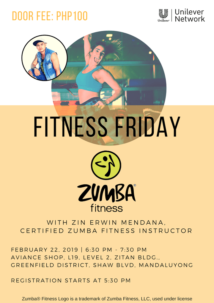 Fitness Friday Zumba Fitness Registration Fri Feb 22 2019 At 6
