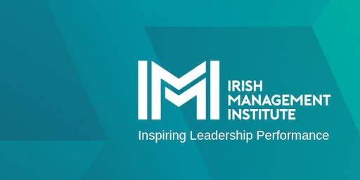 "IMI Masterclass 3 Cork: Deborah Rowland ""Is Change Changing?"""