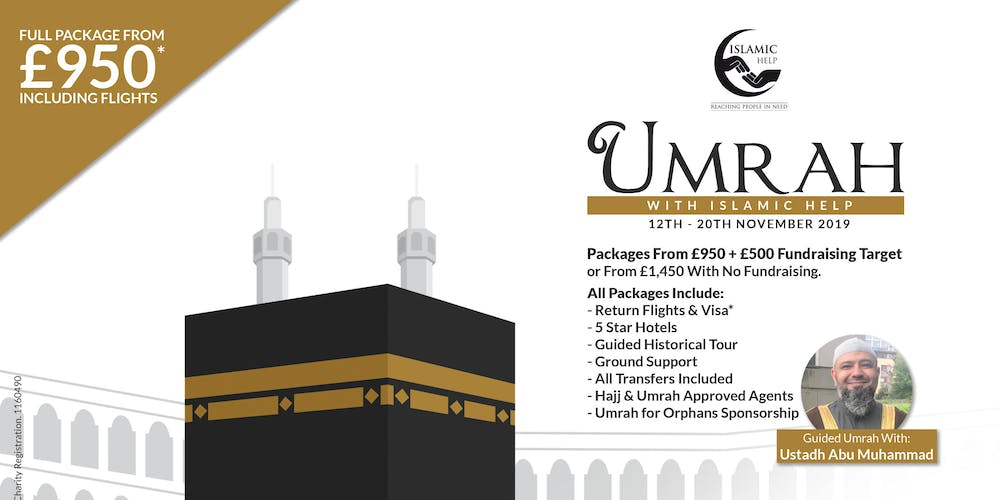 Umrah With Islamic Help Tickets, Tue 12 Nov 2019 at 11:00 | Eventbrite