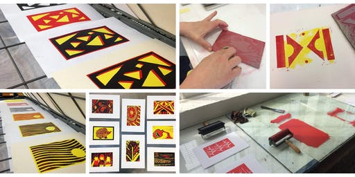 Learn to Lino Print Your Own A4 Posters (Half Day)