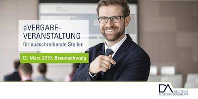 eVergabe-Veranstaltungen für ausschreibende Stellen (Braunschweig)
