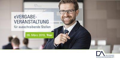 eVergabe-Veranstaltungen für ausschreibende Stellen (Trier)