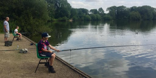 Young Anglers at Kingsbury Water Park