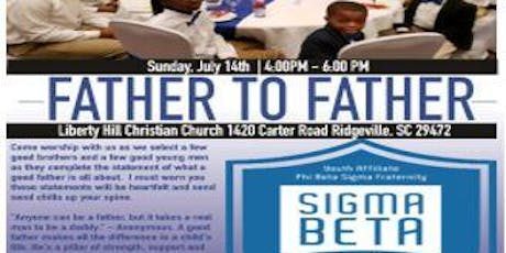 Father to Father Sigma Beta Club Integratition tickets