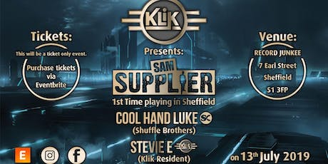 KLiK Presents Sam Supplier tickets
