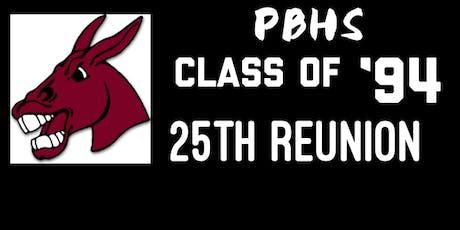 PBHS Class of 1994 25th Class Reunion tickets