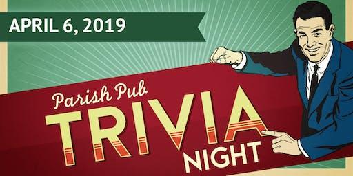 Parish Pub Trivia Night! Benefiting the SEAS Youth Ministry