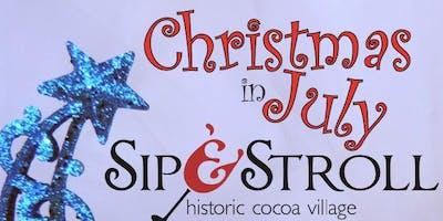 Sip & Stroll Christmas in July