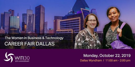 Sponsors & Recruiters: WITI 2019 Career Fair Dallas