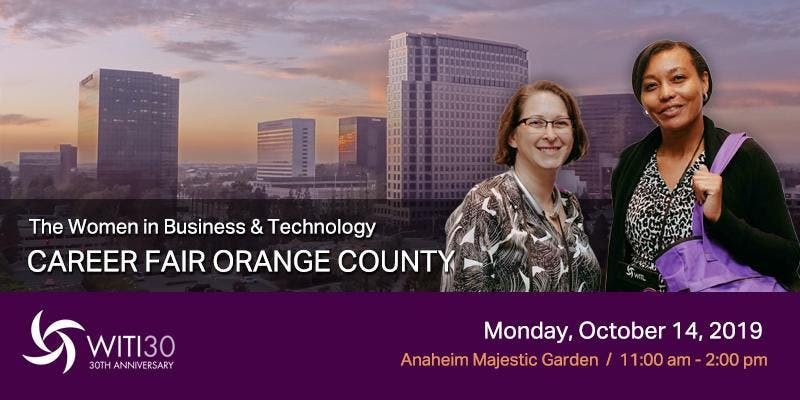 Women in Business and Technology Career Fair Orange County, October 14, 2019