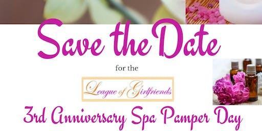 3rd Anniversary Spa Pamper Day