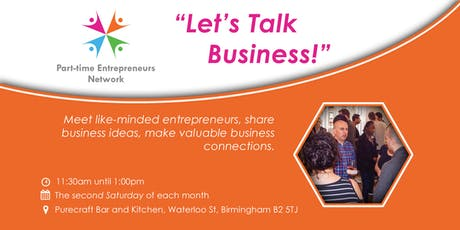 """Birmingham Networking Event - """"Let's Talk Business!"""" tickets"""