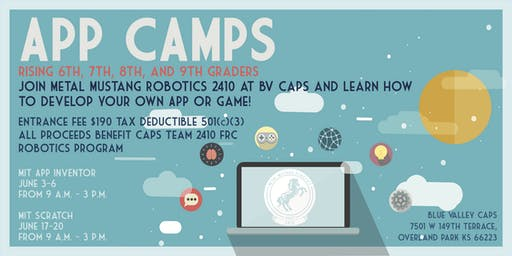 SOLD OUT...(No Wait List) MIT SCRATCH-SUMMER CAMP JUNE 17,18,19,20 (tax deductible) benefits CAPS Team 2410 FRC Robotics program