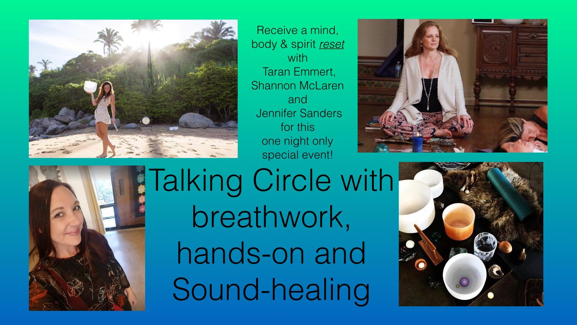 Talking Circle with Breathwork, Hands-on & So
