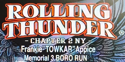 "Frankie "" Towkar"" Appice Memorial 3 Boro Run and Event"