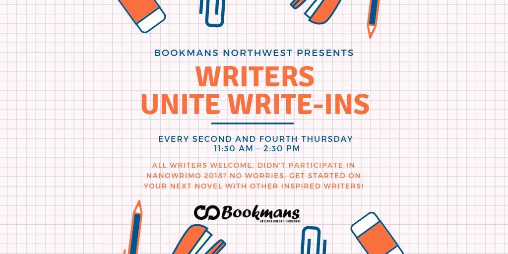 Writer's Unite Write-In banner
