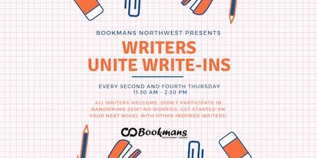 Writer's Unite Write-In tickets