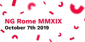 NG ROME MMXIX - ANGULAR CONFERENCE