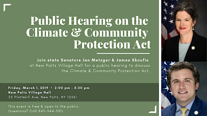 Public Hearing on the Climate & Community Protection Act in New Paltz image
