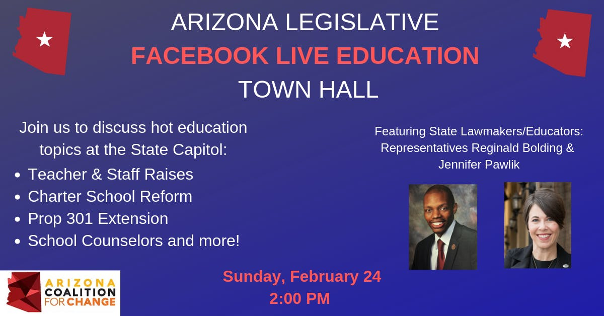 Arizona Legislative Facebook Live Education Town Hall