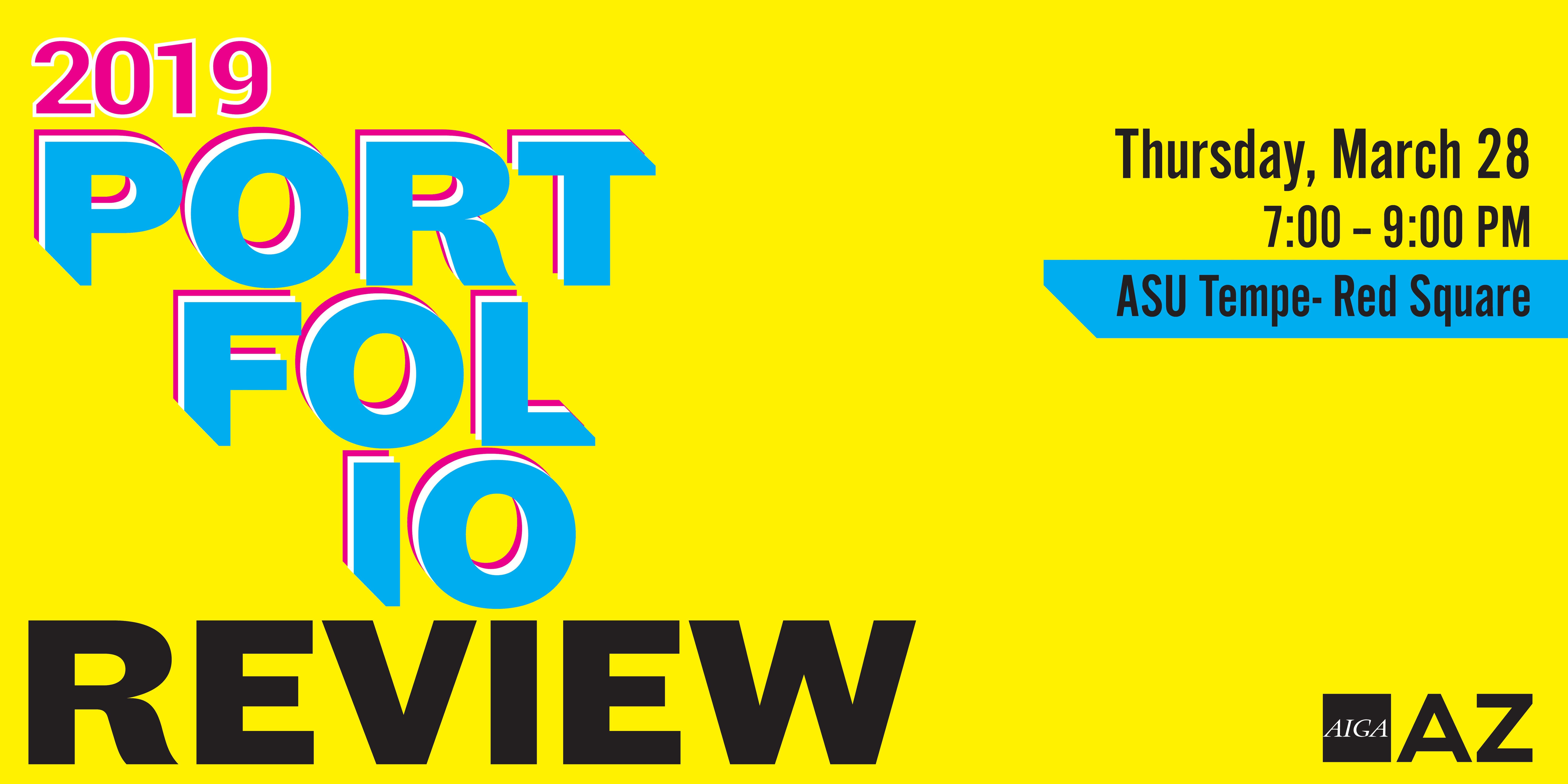 2019 AIGA AZ Portfolio Review- ASU Tempe
