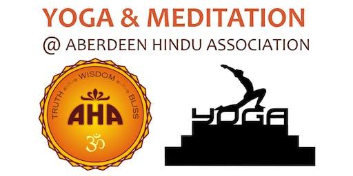 Aberdeen Hindu Association (AHA)  - Yoga & Meditation Class