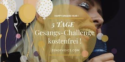 """Kostenfreie 5 Tage Gesangs-Challenge """"Erfolgreich als Sängerin"""""""