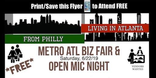 Metro Atlanta Summer Biz Fair & Open Mic Night & ADT Band