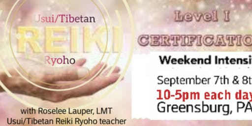 Reiki I certification September 7th& 8th 2019