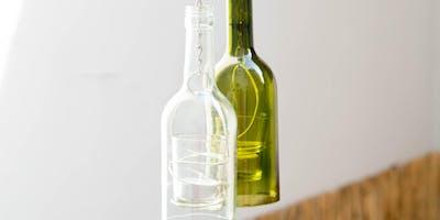 Glasflaschen Windlicht - Upcycling Workshop auf der Kreativmesse Wels