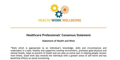 Good Work is Good for You - Promoting Work as  Health Outcome