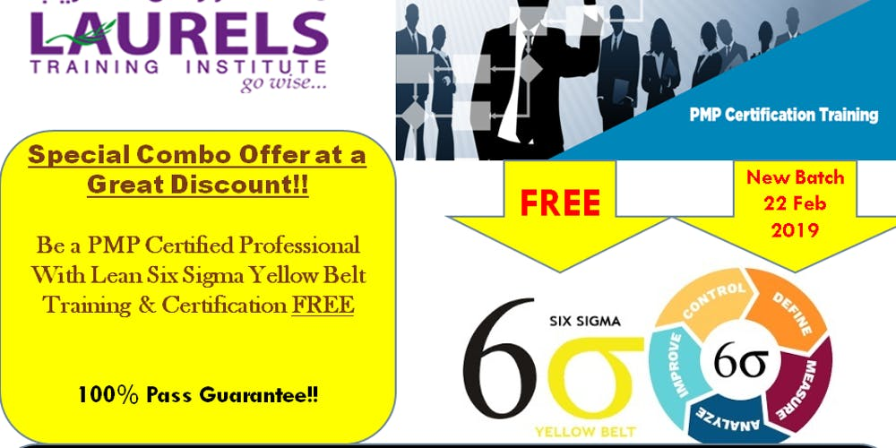 Pmp Training With Free Lean Six Sigma Yellow Belt Training Tickets