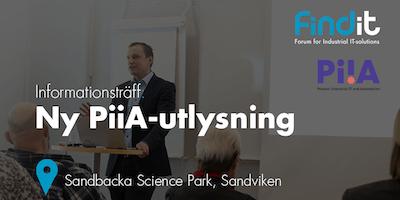 Information om PiiAs (Processindustriell IT och Automation) utlysningar 2019