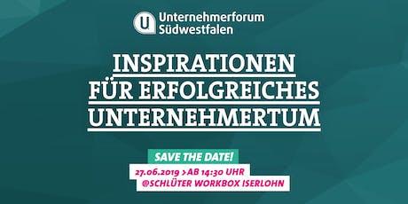 Unternehmerforum Südwestfalen 2019 Tickets
