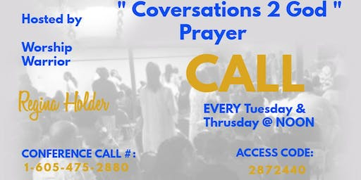 Prophetic Intercession Weekly Prayer Call