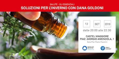 12/09/2019 Oli Essenziali: - REPLICA -Come affrontare l'inverno e i disagi di stagione per grandi e piccini. CASTEL MAGGIORE biglietti