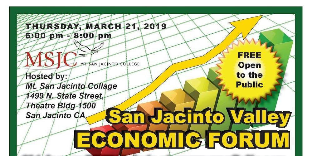San Jacinto Valley Economic Forum Tickets Thu Mar 21 2019 At 6 00