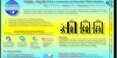 Curso-Taller:Crea y comunica un Elevator Pitch efectivo