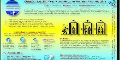 Curso-Taller:Crea y comunica un Elevator Pitch efectivo entradas