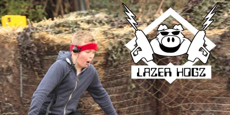 Zombie infested  Lazer Hogz Outdoor Laser Tag tickets