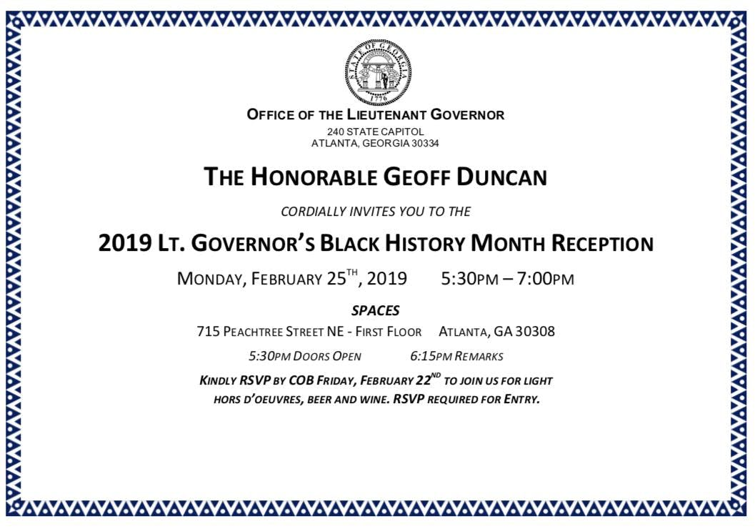 Lt. Governor's Black History Month Reception