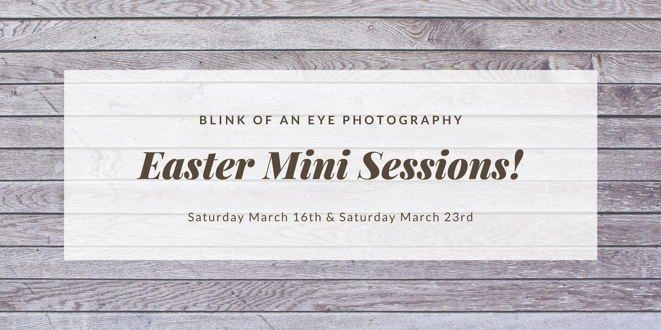 Blink of an Eye Photography - Easter Mini Sessions